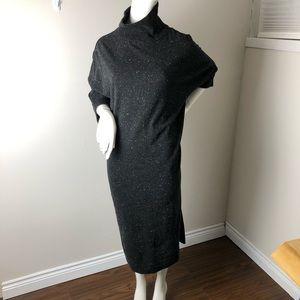 COS XS Charcoal Grey Cocoon Midi Dress Minimal